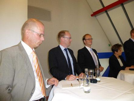 Generalsekretär Prof. Dr. Günther Bachmann (Rat für nachhaltige Entwicklung), Uwe Bergmann (Director SustainabilityManagement, HenkelAG &Co.KGaA), Tom Veltmann (Experte für Nachhaltigkeit/CSR/Markenführung), Prof. Dr. Theresia Theurl (Uni Münster)