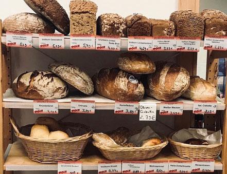 regionales Bio-Brot, Vollkornbrot, Semmeln und Brezen bei der BioInsel München