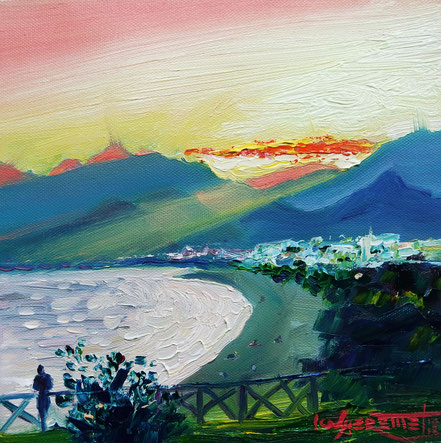 antalya, turkey, oil painting