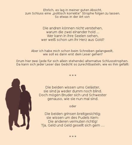 Bruder und schwester gedicht