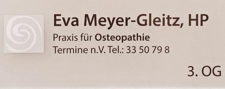 Praxisschild Osteopathie Eva Meyer-Gleitz Hannover Oststadt List Lister Meile