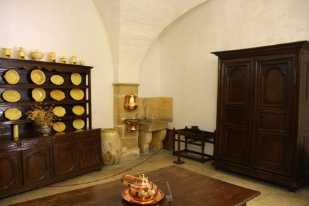 Bild: Küche im Château Lourmarin