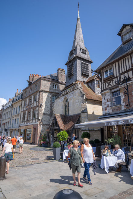 Bild: Honfleur im Département Calvados in der Normandie  hier Église Sainte-Catherine