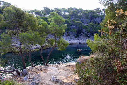 Bild: Wandedrung in der Calanque de Port Pin