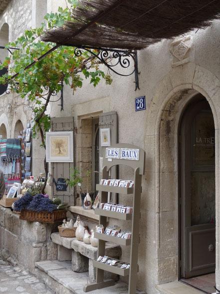 Bild: Geschäfte in Les Baux-de-Provence