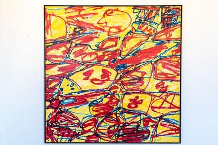 Bild: Bild von Jean Dubuffet im Musée Picasso in Antibes