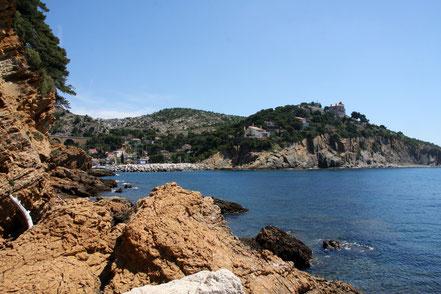Bild: Blick von La Madrague de Gignac auf die Bucht von La Redonne, Côte Bleu
