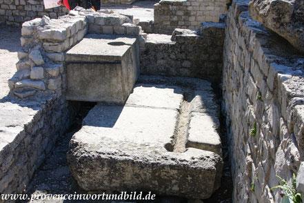 Bild: Römische Ausgrabungen in Vaison-la-Romaine, Quartier de Puymin, Maison à l´Apollon lauré