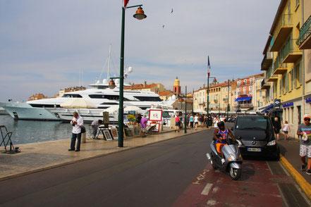 Bild: Quai Jean-Jaures in Saint-Tropez