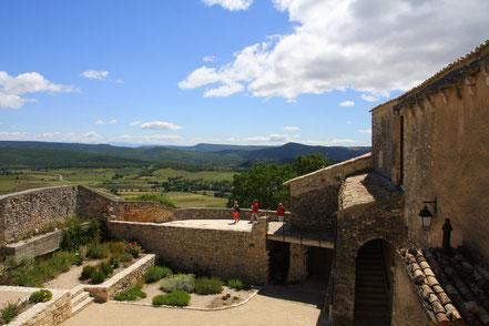 Bild: Terrasse auf Château Simiane-la-Rotonde