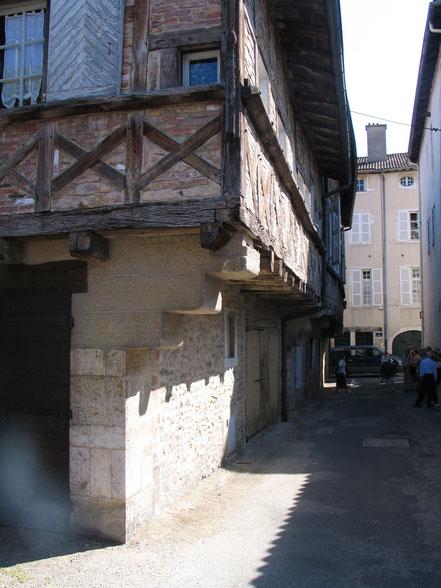 Bild: Fachwerkhaus in der Rue des Marronniers in Bourg-en-Bresse