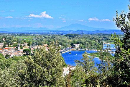 Bild: Blick Aiguèze an der Ardèche