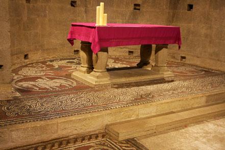 Bild: Mosaiken in der Prieuré de Notre Dame de Ganagobie