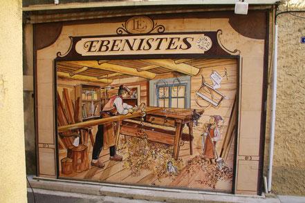 Bild: Wandmalerei in Monteux im Vaucluse