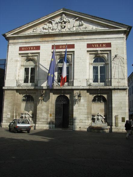 Bild: Hôtel de Ville, das Rathaus in Bourg-en-Bresse