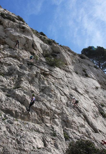 Bild: Kletterer in der Calanque de Morgiou