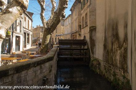 Bild: in der Rue des Teinturiers in Avignon