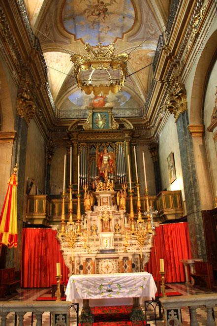 Bild: Chor der Basilique St.-Michel-Archange Menton