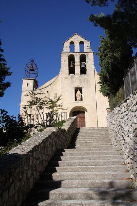 Bild: Dorfkirche von Gigondas