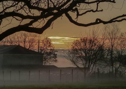 Bild: Abendstimmung in der Dordogne