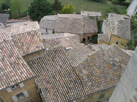 Bild: Die Dächer von Grignan