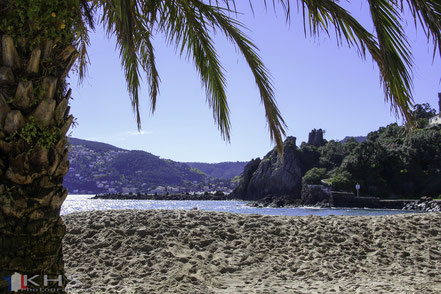 Bild: kleiner Strand am Château La Napoule