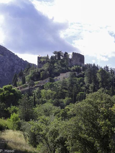 Bild: das Château in Castelnou