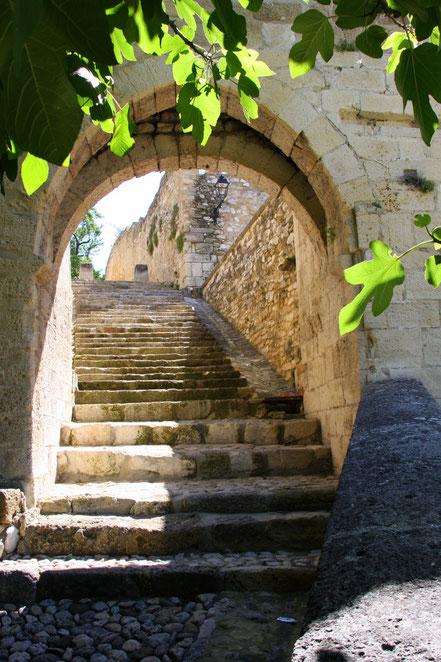 Bild:Treppe in der Altstadt von Rob