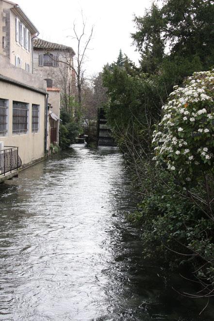 Bild: Wasserrad in Fontaine de Vaucluse