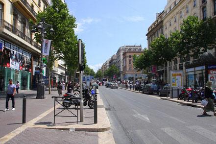 Bild: Boulevard la Canabière in Marseille