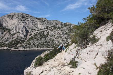 Bild: Wanderweg in der Calanque de Morgiou