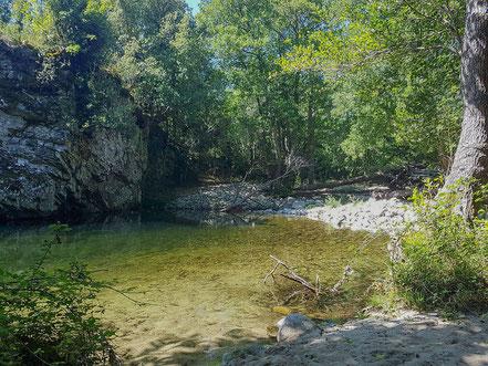 Bild: Fluß Taravo bei Cozzano auf Korsika