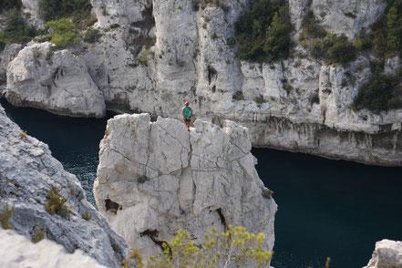 Bild: Klettern in der Calanque d´en Vau