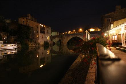 Bild: Nérac bei Nacht