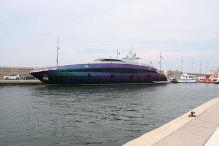 Bild: Yacht in Saint-Tropez