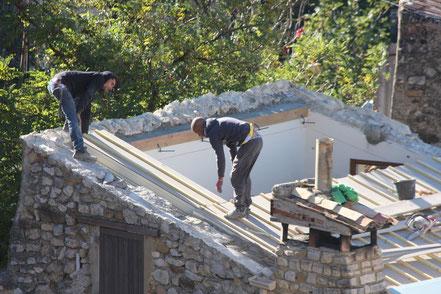 Bild: Dachrenovierung in Gigondas