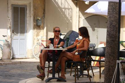 Bild: im Cafe von Lourmarin
