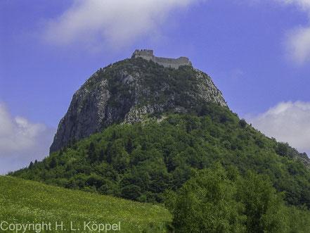 Bild: Montségur mit Burg