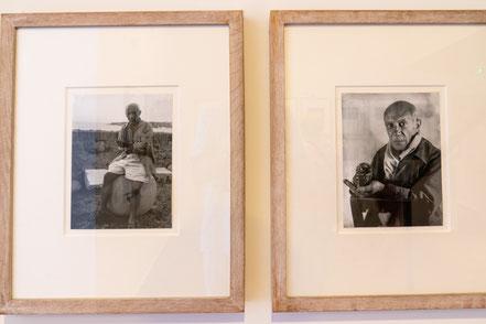 Bild: Fotos von Picasso im Musée Picasso in Antibes
