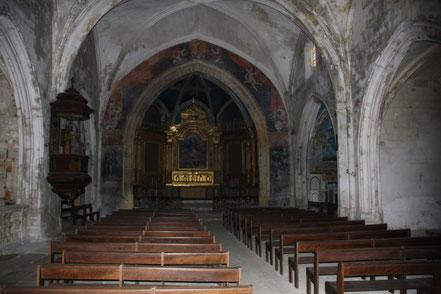Bild: im Innern der Kirche Saint-Luc in Ménerbes im Vaucluse
