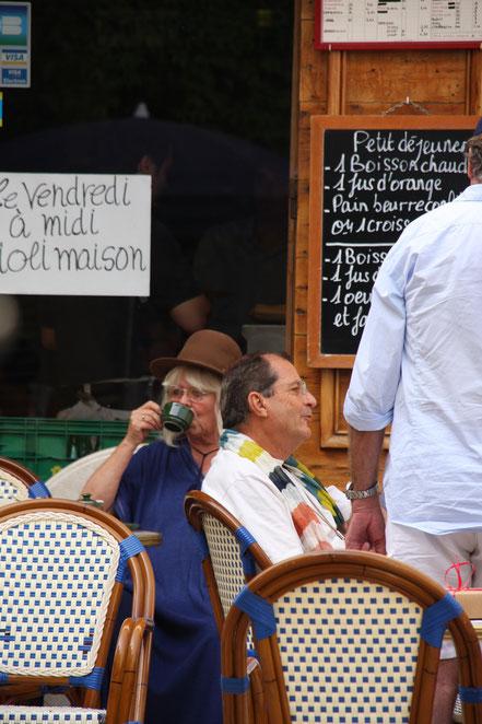 Bild: im Cafe in Lourmarin