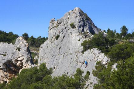 Bild: Blick von Orgon in die Alpilles
