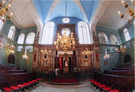 Bild: Gebetsraum der Synagoge in Carpentras