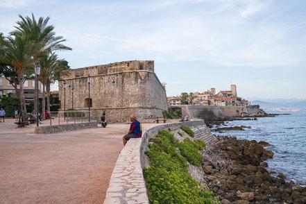 Bild: Blick auf das Musée d´Archéologi in Antibes