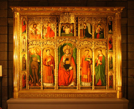 Bild: Altaraufsatz in der Cathédrale von Monaco