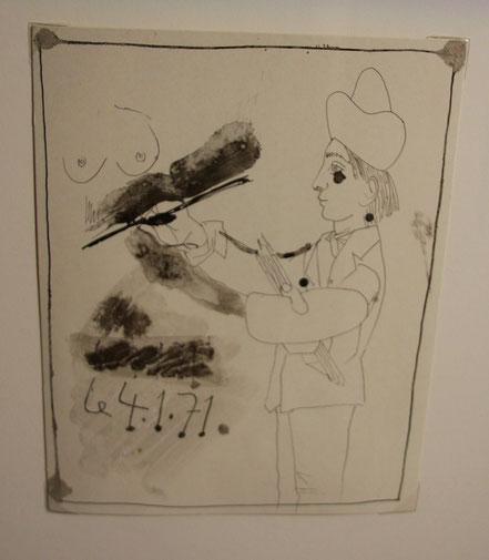 Bild: Pablo Picasso im Museum Réattu, Arles, Provence
