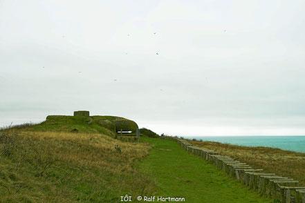 Bild: Alte Bunkeranlagen auf dem Cap Fécamp