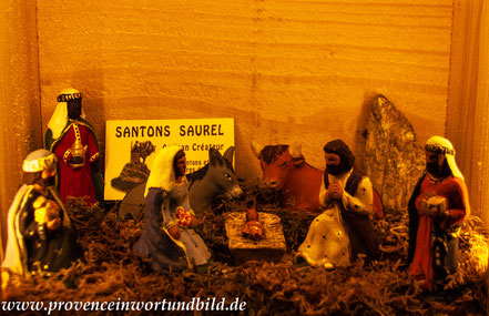 Bild: Santons in Le Village des Santons en Provence, Aubagne, Santonaustellung in Aubagne