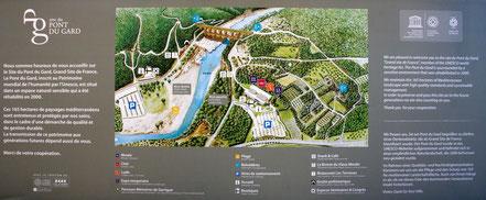 Plan des Geländes, wird durch Mausklick vergrößert