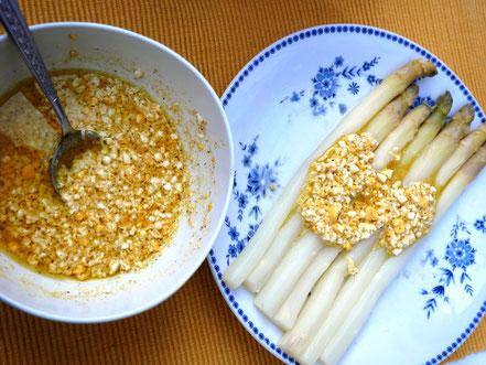 Bild: Rezept Vinaigrette mimosa pour asperges